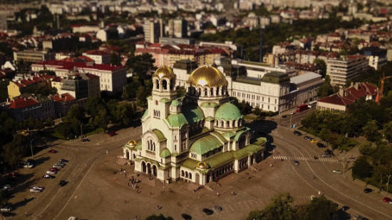 Sofia Bulgaria Aerial